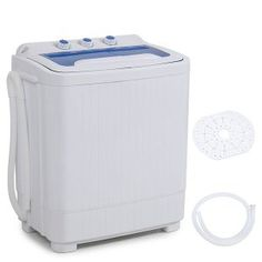 DELLA Electric Mini Washing Machine Home Twin Tub Portable Compact Washer and Spin Dry Cycle Built-in Drain Pump w/Hose Washing Machine Reviews, Mini Washing Machine, Washing Machines, Spin Dryers, Compact Laundry, New Washer And Dryer, Washer Machine, Laundry Dryer