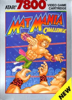 Mat Mania Challenge (Atari for sale online Vintage Video Games, Classic Video Games, Video Game Posters, Video Game Art, Alone Game, Beat Em Up, Nintendo, Gaming, 80s Kids