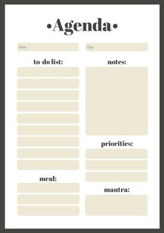 Gray Minimalist Daily General Personal Planner