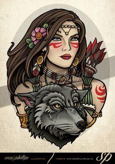 hunter-wolf-tattoo.jpg (Obraz JPEG, 595×848 pikseli) - Skala (71%)