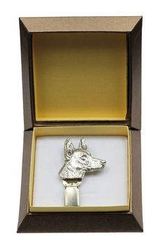 Kerry Blue Terrier dog clipring silver hallmark 925 show ring clipnumber holder in box casket ArtDog ** Check this awesome product by going to the link at the image. (This is an affiliate link) Norfolk Terrier, Norwich Terrier, Staffordshire Bull Terrier, Cairn Terrier, Terrier Dogs, Boston Terrier, American Staffordshire, Scottish Terrier, Terriers
