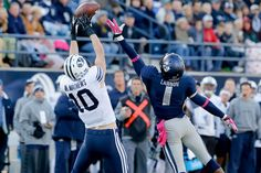 #BYU WR Mitch Mathews rises to the occasion vs #USU. #playerofthegame