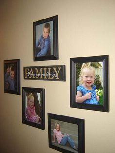 Incorporating Family Photos and Hanging them Up - Home Hinges - Home Improvement Online Magazine Family Pictures On Wall, Wall Decor Pictures, Family Wall, Living Room Pictures, Family Photos, Family Room, Picture Arrangements, Photo Arrangement, Bedroom Arrangement