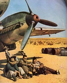 A rather relaxed Messerschmitt Bf 110 crew in North African Campaign.The Bf 110 also acted as a support aircraft for the Junkers Ju 87 Stuka units. In 1941, nearly 20% of the Zerstörergeschwader 's missions were ground attack orientated.