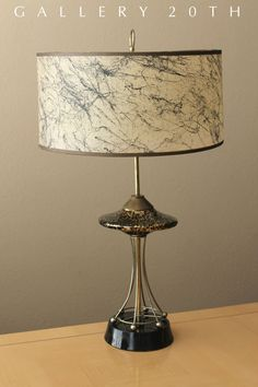 RARE! MID CENTURY MODERN ATOMIC SAUCER LAMP! 1950's Eames Ufo Sputnik Vtg Lampen #TableLamp