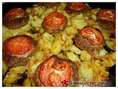 Αφράτα μπιφτέκια καλοκαιρινά με πατάτες φούρνου #sintagespareas