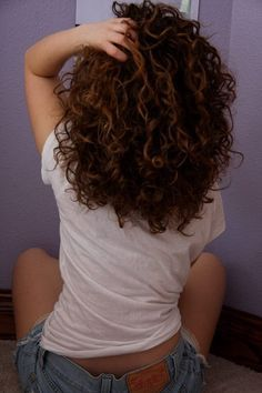 Naturally curly hair... I need to grow it out so I can actually style it.                                                                                                                                                                                 More