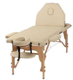 The Best Massage Table 3 Fold Cream Reiki Portable Massage Table – PU Leather – In home massage