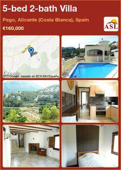 5-bed 2-bath Villa in Pego, Alicante (Costa Blanca), Spain ►€160,000 #PropertyForSaleInSpain