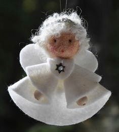 Felt angel decoration White angel ornament Christmas angel decoration White angel Christmas decoration MADE TO ORDER Christmas Angel Decorations, Christmas Angel Ornaments, Unique Christmas Trees, Felt Christmas, Felt Ornaments, Angel Crafts, Cute Crafts, Christmas Projects, Felt Crafts