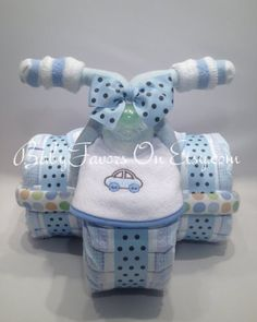 Tricycle Diaper Cake in Many Colors - Great gift or centerpiece for Baby Shower Tricycle Diaper Cake in Many Colors Great gift or by BabyFavors