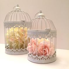 small cages to add to the cake table Quinceanera Centerpieces, Party Centerpieces, Wedding Decorations, Table Decorations, Simply Shabby Chic, Bird Cages, Vintage Party, Deco Table, Girl Shower