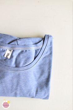 Kuinka huolitella pääntie kaksoisneulalla – Mehukekkerit Jeans, Fabric, Diy, Fashion, Tejido, Do It Yourself, Moda, Bricolage, Fashion Styles