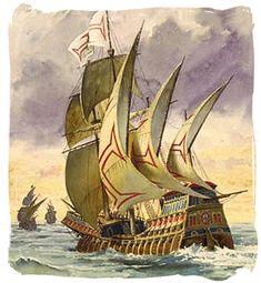 Vasco da Gama llegando a la india