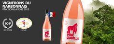 "BlackFriday ~ Vignerons du Narbonnais ""Pink Gorilla"" Rosé 2015 - http://weinblog.belvini.de/vignerons-du-narbonnais-pink-gorilla-rose"