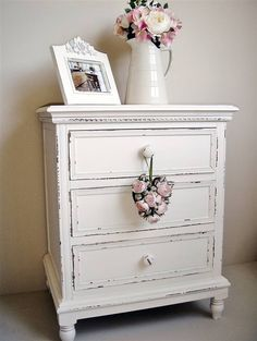 3 drawer bedside cupboard :: Bliss and Bloom