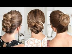 3 Easy Updos for Medium & Long Hair Easy Updo Hairstyles, Everyday Hairstyles, Easy Updos For Long Hair, Two Ponytails, Hair Pulling, Medium Long Hair, Hair Oil, How To Look Pretty, My Hair