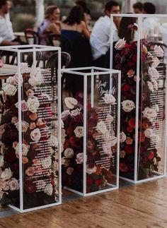 acrylic pedestals filled with flowers for wedding seating chart, Wedding Ideas , , ideas unique 2020 Wedding Trends To Bookmark: Part 2 ⋆ Ruffled Wedding Paper, Wedding Table, Fall Wedding, Diy Wedding, Wedding Flowers, Dream Wedding, Wedding Colours, New Years Wedding, Nautical Wedding