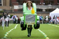 Different look: Last week Millie helped Nature Valley promote their involvement in the London 2012 Olympics