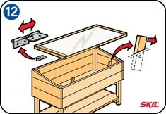You don't need to buy a wooden cold frame – it's easy to build your own. You'll find simple, step-by-step instructions here for making a cold frame. Scrap Wood Projects, Diy Pallet Projects, Projects To Try, Outdoor Planter Boxes, Wooden Planters, Woodworking Plans, Woodworking Projects, Pallet Home Decor, Diy Greenhouse