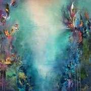 Jaanika Talts - Estonian art - Estonia and Dublin, Ireland Abstract Pictures, Acrylic Painting Techniques, Irish Art, Modern Art Paintings, Shangri La, Art Challenge, Pretty Art, Abstract Canvas, Abstract Landscape