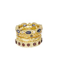 Look at this #zulilyfind! Gold & Cubic Zirconia Jaipur Stack Ring Set #zulilyfinds