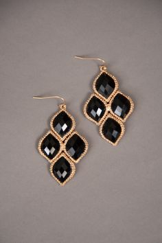 Fancy This Earrings-Black