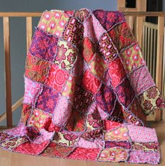 Joel Dewberry, Rag Quilt, Large Throw, Made to order via Etsy