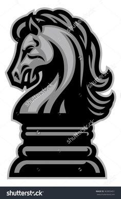 Knight Horse Chess Stock Vector Illustration 363850451 : Shutterstock