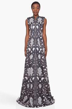 Spiral Print Silk Dress - Balmain. Of course it is. Makes me think of a wrought-iron gate, in the best way possible.