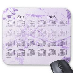 Old Purple Paint 2 Year 2014-2015 Calendar Mousepad Design from Calendars by Janz $12.35