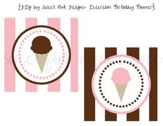 Happy Birthday Banner- Ice Cream Shoppe Collection on Etsy, $6.50