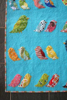 put a bird on it- beautiful bird quilt.....love the birds:-))