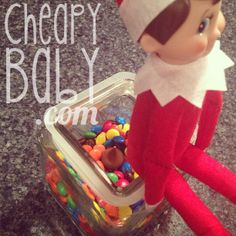 Dirty Elf on the Shelf Ideas from Cheapybaby.com