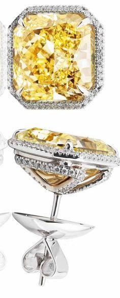 Make a statement with these yellow diamond earrings.  Inspired By You, Created By Us. #BlackKeyDiamonds www.blackkeydiamonds.com