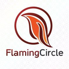 Exclusive Customizable Fire Logo For Sale: Flaming Circle   StockLogos.com
