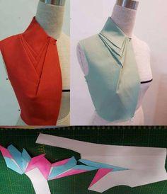 44 Ideas Origami Pattern Fashion For 2019 Moda Fashion, Fashion Sewing, Diy Fashion, Fashion Details, Pattern Cutting, Pattern Making, Dress Sewing Patterns, Clothing Patterns, Blouse Patterns
