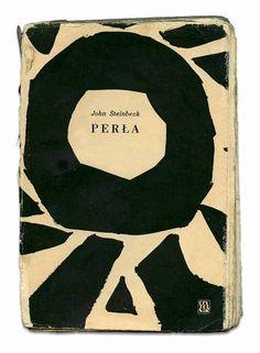 Jan Młodożeniec, cover design for John Steinbeck's The Pearl, 1956. Poland.Source