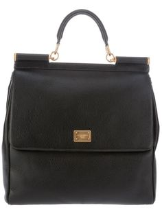 DOLCE & GABBANA - structured bag.  The perfect city strutting tote.