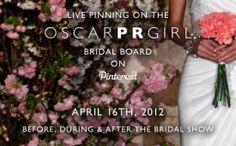 Oscar de la Renta to Live-Pin Bridal Show on #Pinterest #socialmedia #casestudy