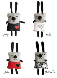 Sewing Toys Bunny Etsy Ideas For 2019 Felt Crafts, Fabric Crafts, Sewing Crafts, Kids Crafts, Sewing Projects, Softies, Monster Dolls, Bunny Toys, Bunnies