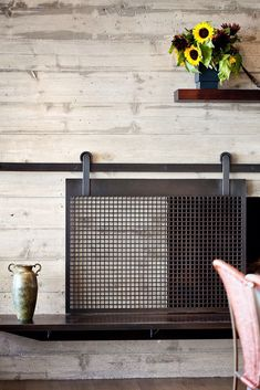 I am loving this fireplace screen.