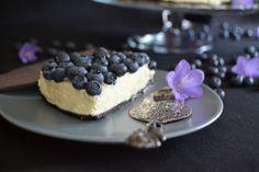 Blaubeer-Cheesecake mit weißer Schokolade <3