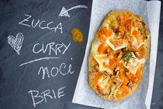 Pizza zucca curry e brie