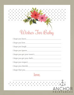 Very cool--you can instantly customize this wishes for baby game with the baby's name.