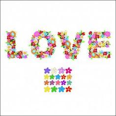 Adesivo de Parede Decorativo Love Flores