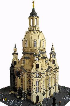 LEGO Frauenkirche Dresden  cathedral originally built in the 1700's. After it was destroyed during WWII, it was rebuilt with the original plans over the past 13 years.