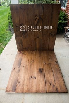 How to DIY Photography Faux Wood Floor & Wall Backdrop Prop For Photographers #photography101,