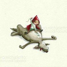 #cappuccettorosso #illustrazione  #acquerello #lauramichieletto
