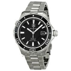 Tag Heuer Aquaracer 500 Automatic Mens Watch WAK2110.BA0830 TAG Heuer. $2000.00. Self Winding Automatic Calibre 5 movement. Black dial. 41mm case dimension. Brushed with Polished Stainless Steel band. Brushed with Polished Stainless Steel case